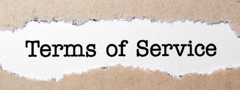 cara membuat terms of service