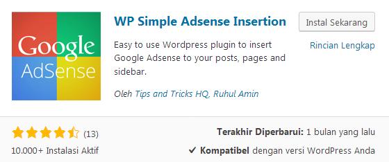 WP Simple Adsense Insertion