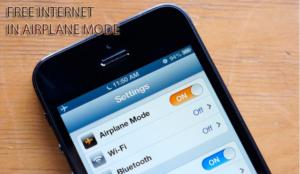 cara internetan gratis mode pesawat
