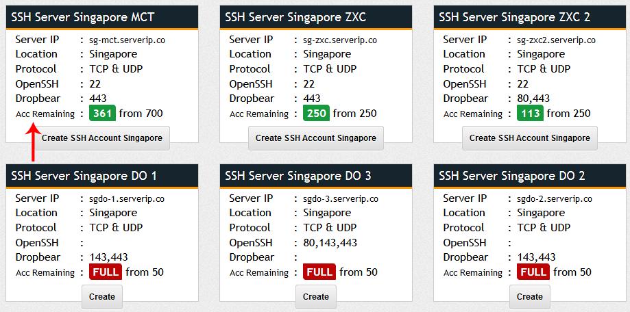ssh server singapore