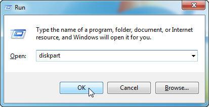 open diskpart