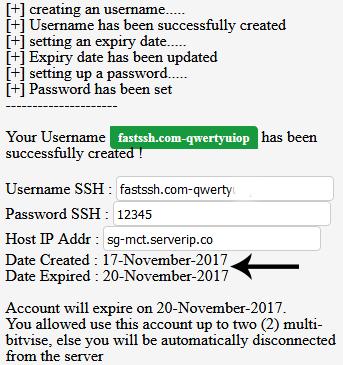 ssh account fastssh