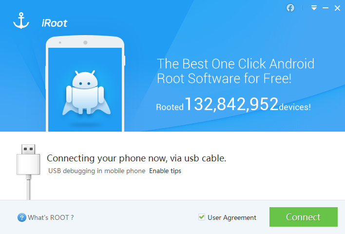 connect phone iroot