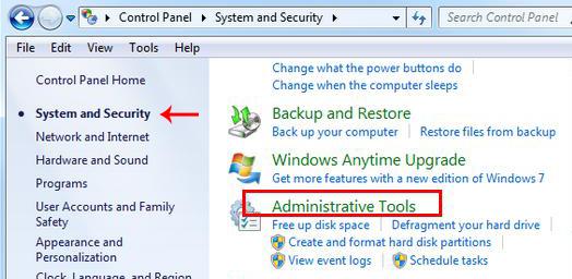 administrative tool windows 10