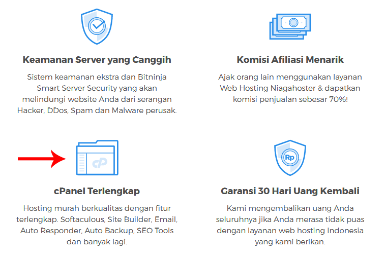 cpanel niagahoster