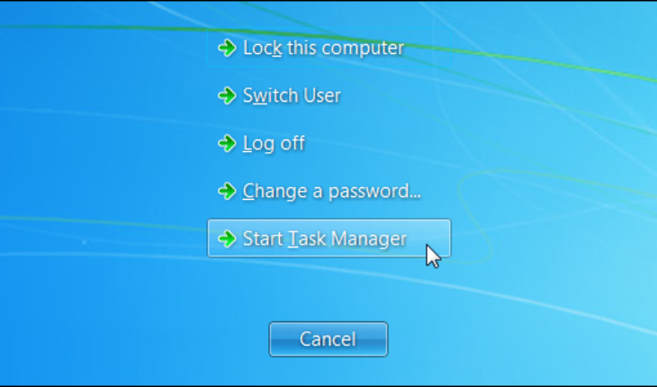 cara membuka task manager windows 7