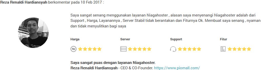 server respon niagahoster