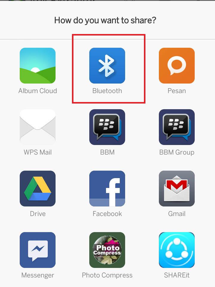 mengirim file menggunakan bluetooth