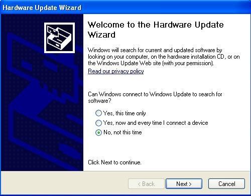 hardware update wizard