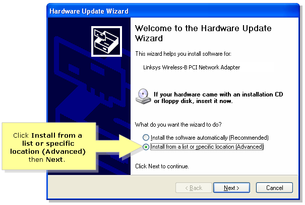 instal hardware advance