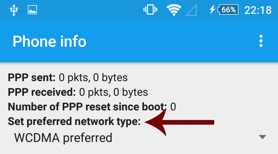 set prefered network type