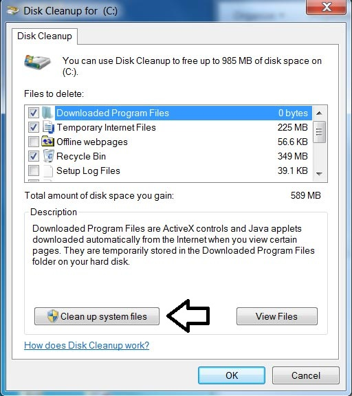 clean up system file
