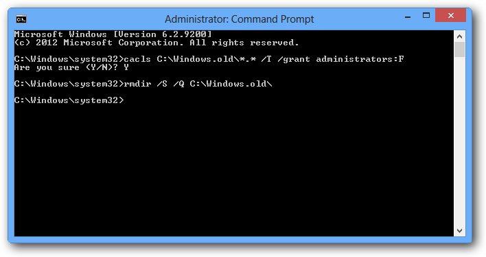 command prompt disk cleanup cara menghapus windows old