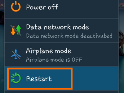 how to restart android phone