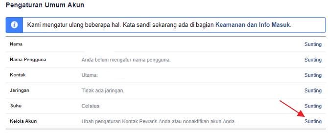 kelola akun facebook