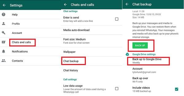 whatsapp google drive backup