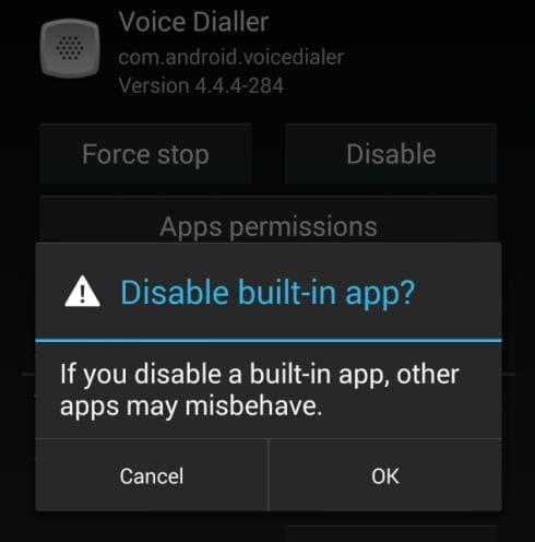 mematikan aplikasi bawaan