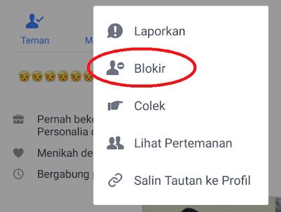 blokir pertemanan facebook