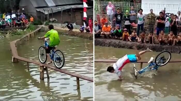 lomba sepeda di atas air