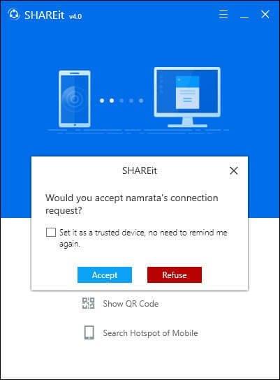 persetujuan shareit laptop