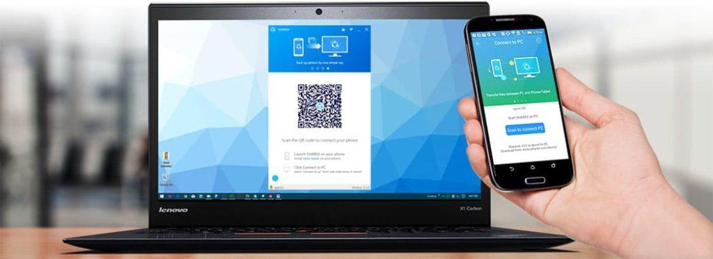 cara menggunakan shareit di laptop