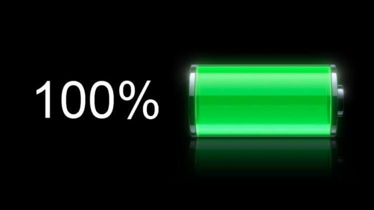 baterai 100 persen penuh