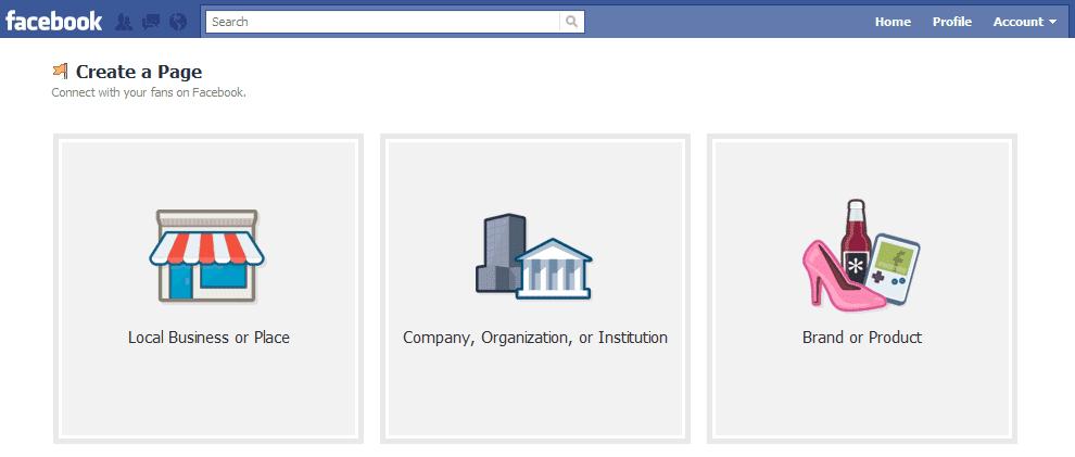 buat fans page facebook