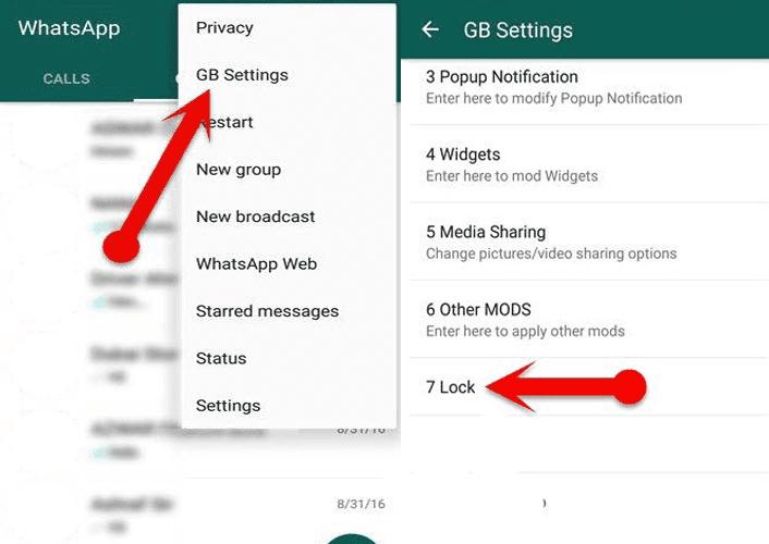 gb whatsapp setting lock