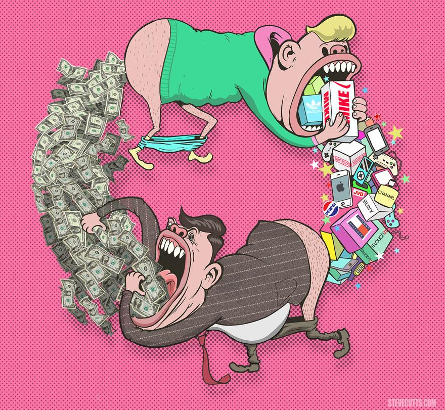 ilustrasi kehidupan zaman sekarang
