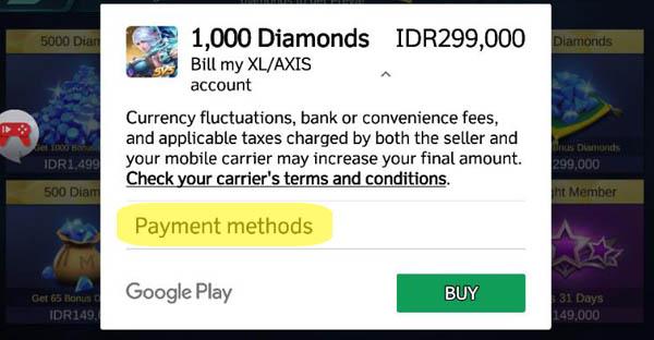 bayar diamond dengan pulsa