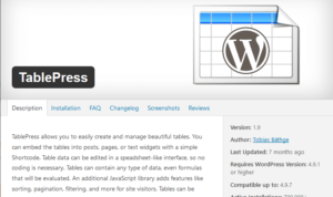 cara membuat tabel di wordpress