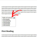 cara membuat table of content di wordpress