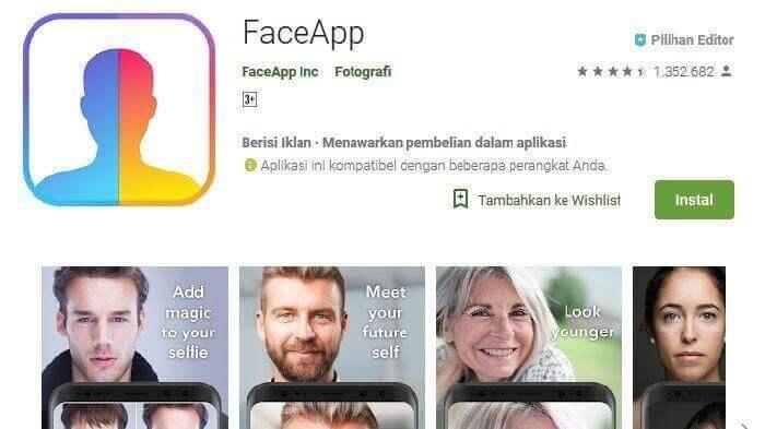 cara menggunakan faceapp