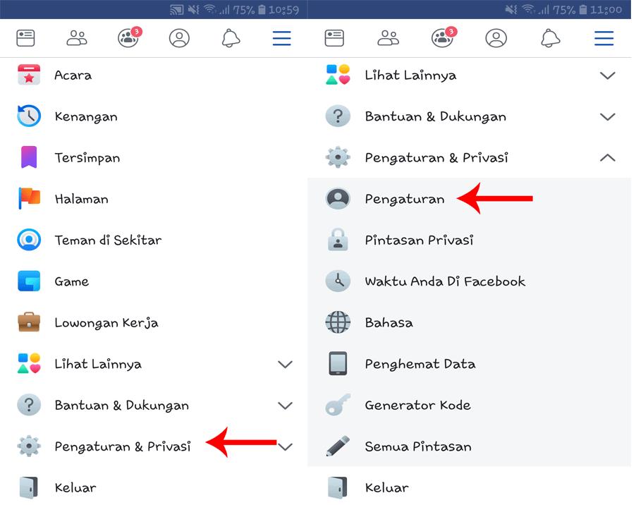 cara mengubah nama pengguna facebook - pengaturan facebook