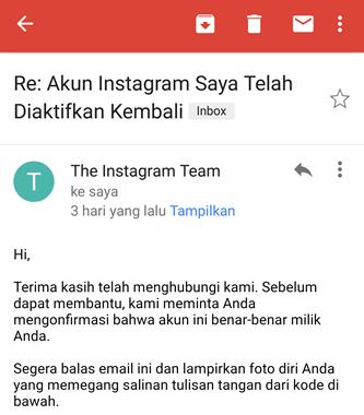 akun instagram diaktifkan kembali - cara mengembalikan akun instagram yang diblokir