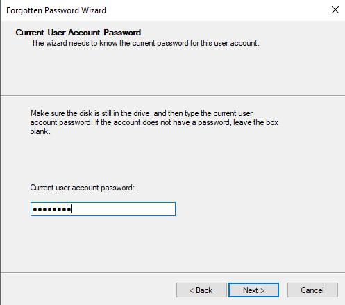 current password