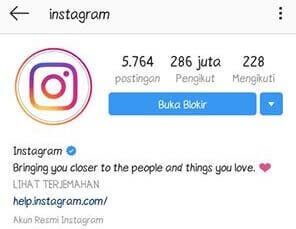 instagram buka blokir