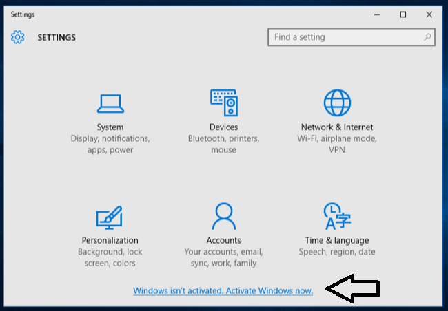 windows not aktivated