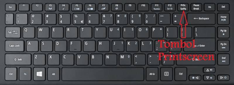 cara screenshot di laptop windows 7 dengan prtscr