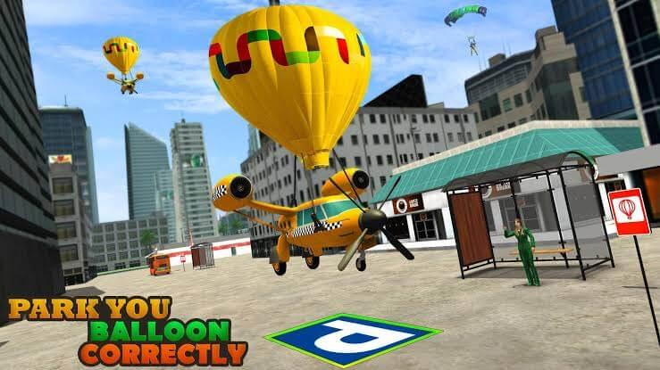 Flying Taxi Simulator Air Balloon Taxi Driving 3D