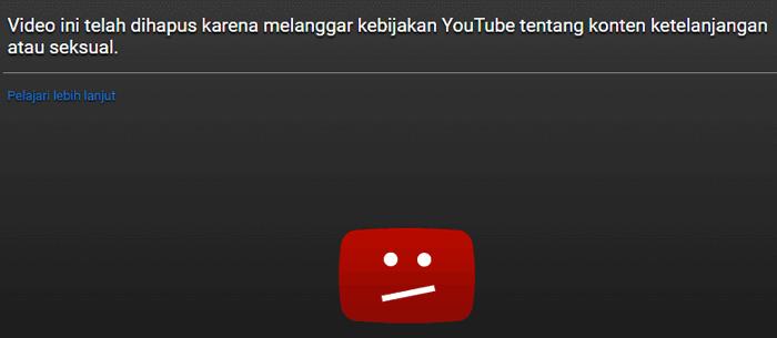 konten melanggar pedoman youtube