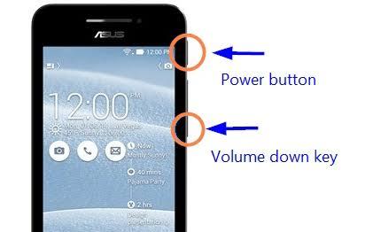 screenshot asus phone