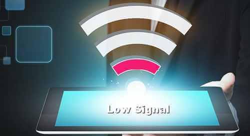 sinyal lemah