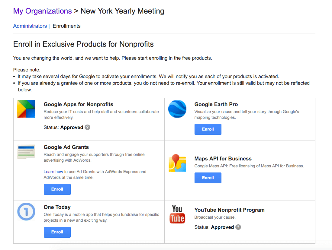 google for nonprofits youtube