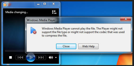 cara mengatasi windows media player cannot play the file