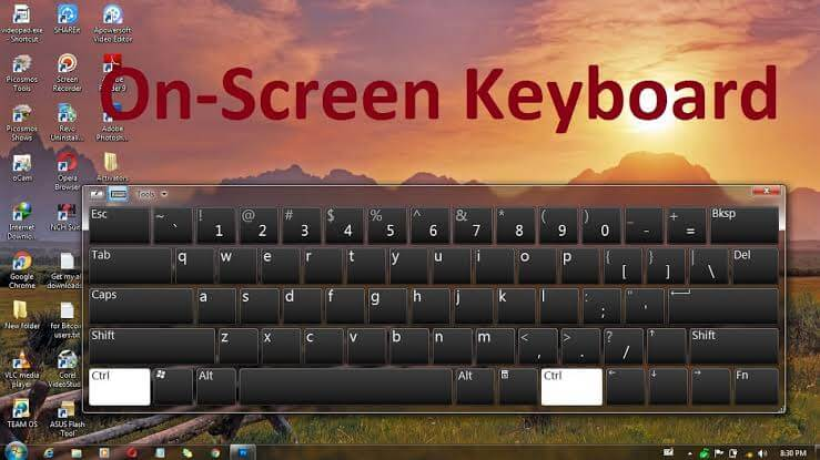 cara menampilkan on screen keyboard