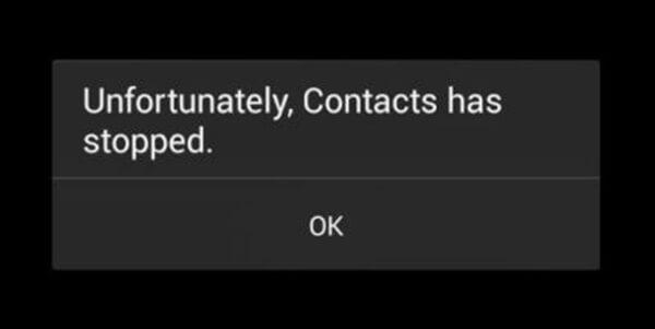 cara mengatasi sayangnya kontak telah berhenti
