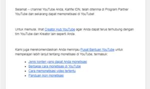 cara mudah diterima monetisasi youtube