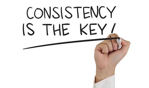 konsisten adalah kunci sukses
