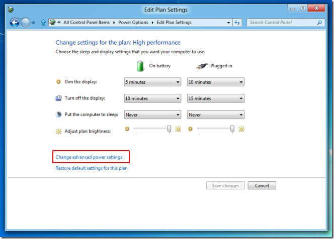 mencegah mati otomatis windows 8